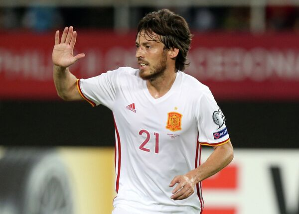Полузащитник сборной Испании по футболу Давид Сильва