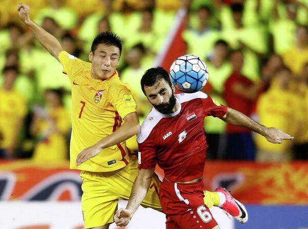 Игровой момент матча Сирия - Китай