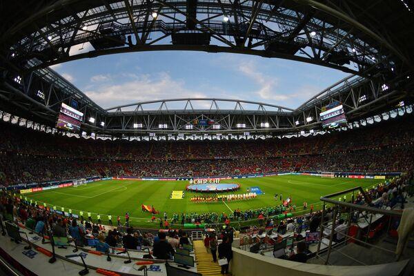 Стадион Спартак перед началом матча Кубка конфедераций-2017 по футболу между сборными Камеруна и Чили