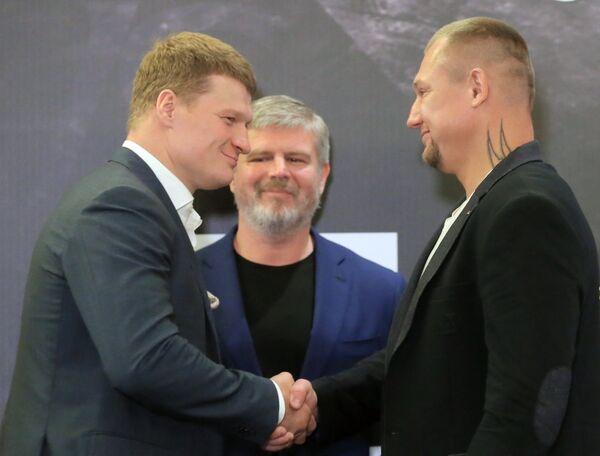 Александр Поветкин, Андрей Рябинский и Андрей Руденко (слева направо)