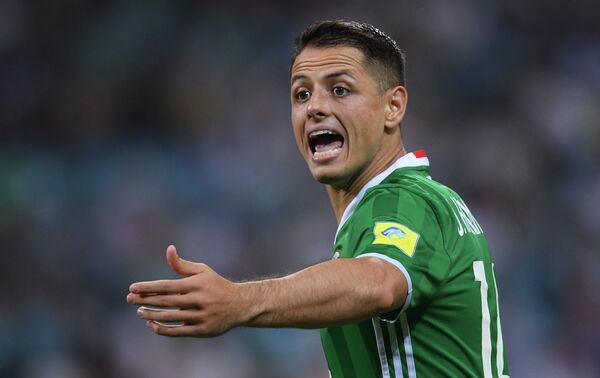 Нападающий сборной Мексики по футболу Хавьер Эрнандес