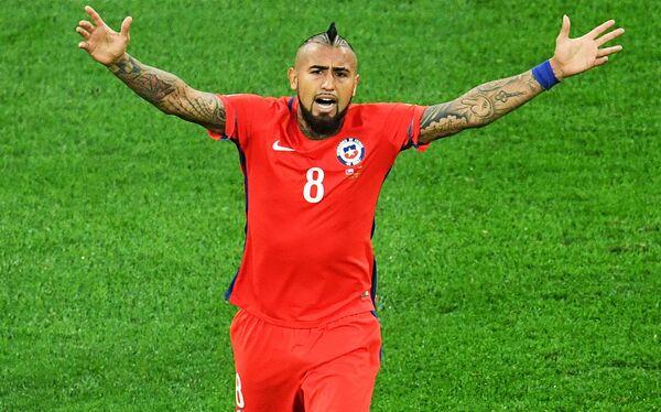 Полузащитник сборной Чили по футболу Артуро Видаль