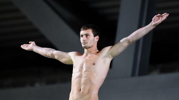Российский прыгун в воду Александр Бондарь