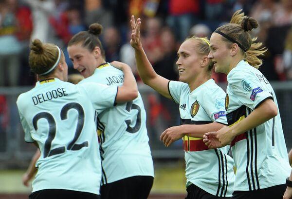 Футболистки сборной Бельгии