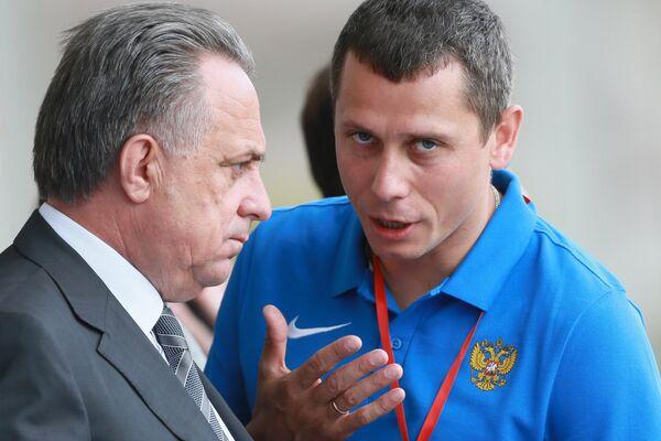 италий Мутко (слева) и Юрий Борзаковский
