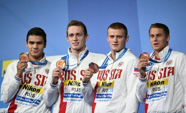 Евгений Рылов, Кирилл Пригода, Александр Попков, Владимир Морозов (слева направо).