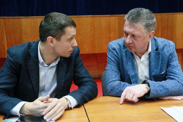 Юрий Борзаковский (слева) и Дмитрий Шляхтин