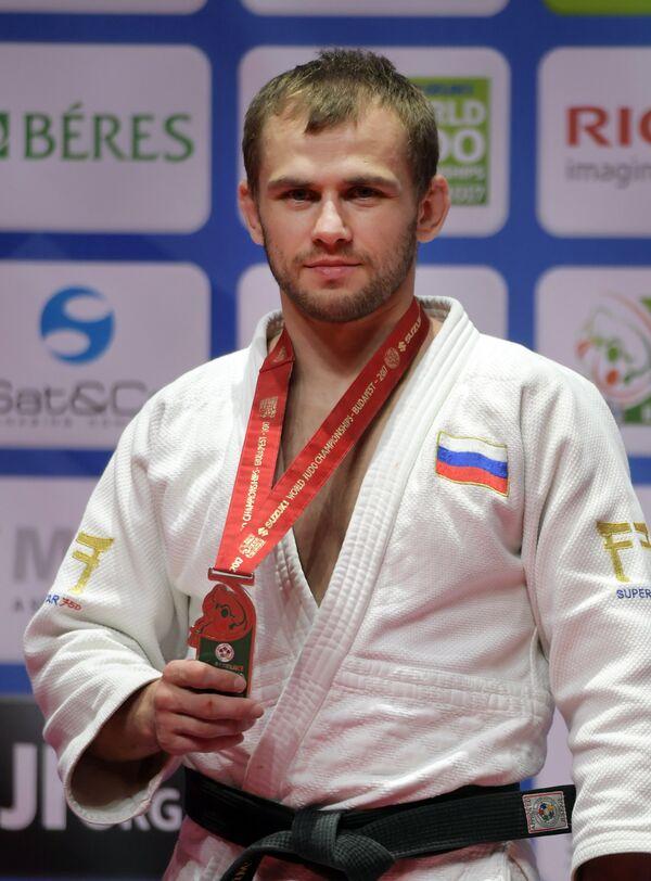 Михаил Пуляев на чемпионате мира по дзюдо