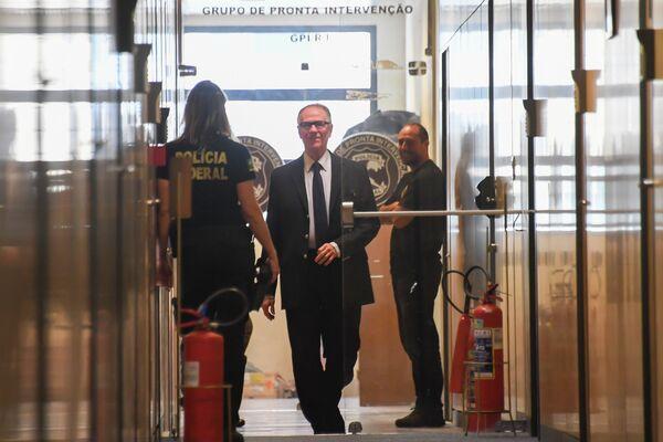 Главы Национального олимпийского комитета Бразилии Карлос Артур Нузман в полиции