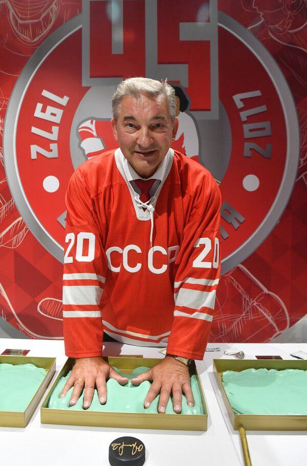 Вратарь сборной СССР Владислав Третьяк