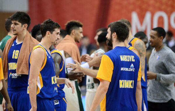 Игроки БК Химки Марко Тодорович, Алексей Швед, Стефан Маркович (слева направо)