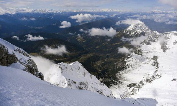 Вид с ледника Дахштайн в Австрии