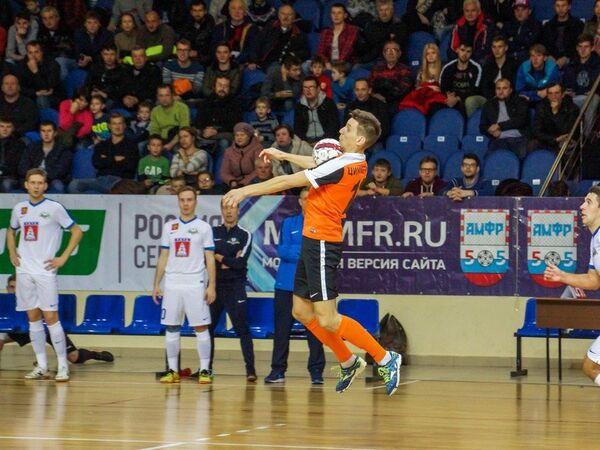Игровой момент матча чемпионата России по мини-футболу Автодор - Ухта