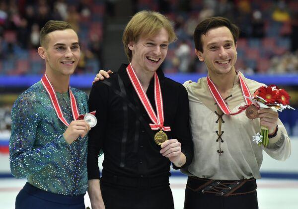 Адам Риппон, Сергей Воронов и Алексей Быченко (слева направо)