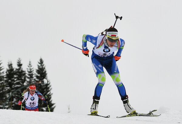 Биатлонистка сборной Белоруссии Надежда Скардино