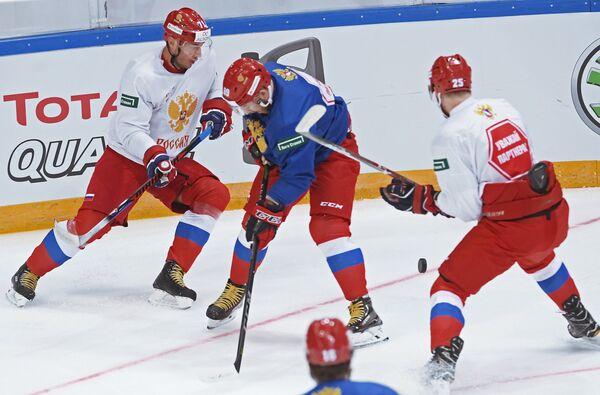 Игроки сборной России по хоккею на тренировке