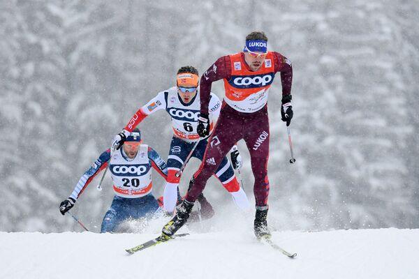 Справа налево: Сергей Устюгов (Россия), Финн Хоген Крог (Норвегия) и Эндрю Ньюэлл (США)