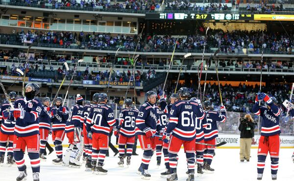 Хоккеисты клуба НХЛ Нью-Йорк Рейнджерс