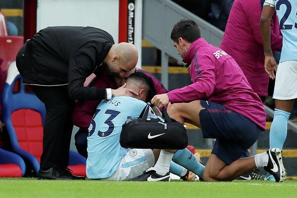 Нападающий английского футбольного клуба Манчестер Сити Габриэль Жезус
