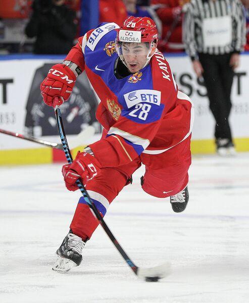 Нападающий молодежной сборной России по хоккею Артур Каюмов