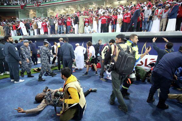 Обрушение заграждения в финале Кубка Персидского залива