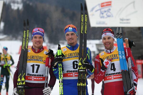 Андрей Ларьков, Алексей Полторанин и Алекс Харви (слева направо)