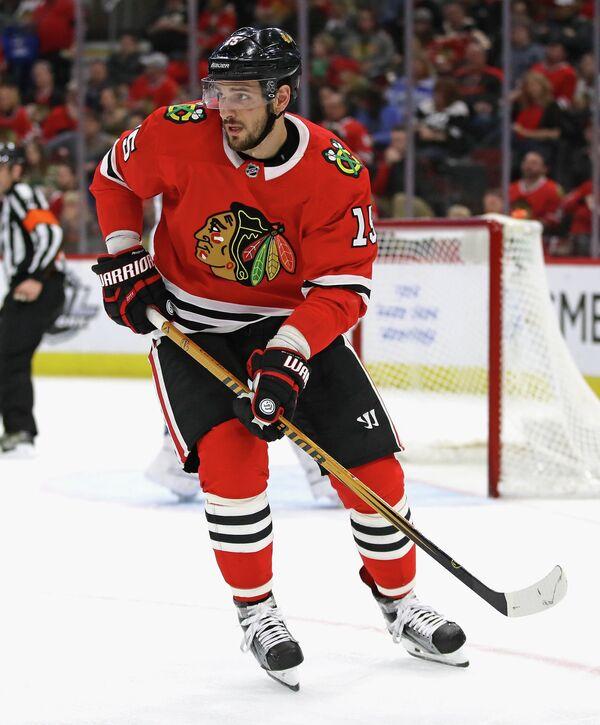 Российский нападающий клуба НХЛ Чикаго Блэкхокс Артем Анисимов