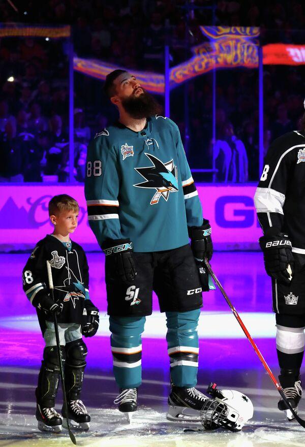 Защитник Сан-Хосе Шаркс Брент Бернс на Матче звезд НХЛ