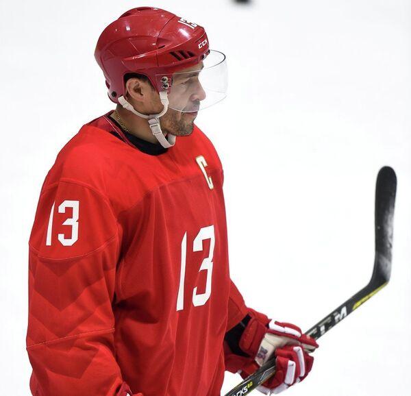 Нападающий сборной России по хоккею Павел Дацюк