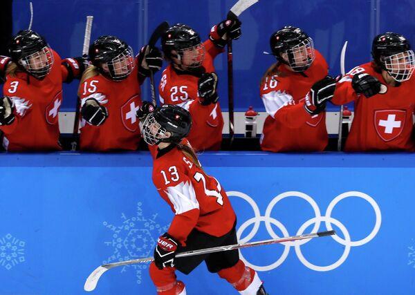 Хоккеистки сборной Швейцарии