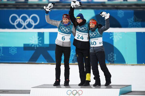 Анастасия Кузьмина, Ханна Эберг, Лаура Дальмайер (слева направо)