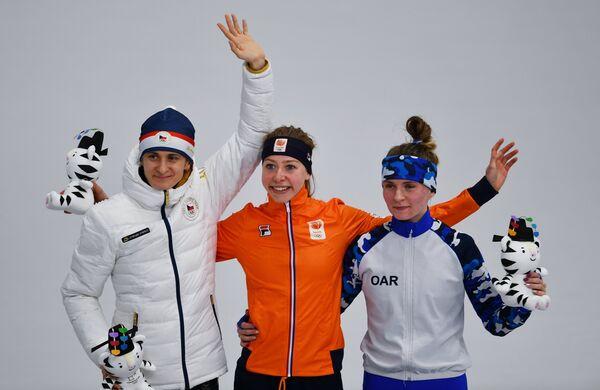 Мартина Сабликова, Эсме Виссер и Наталья Воронина (слева направо)