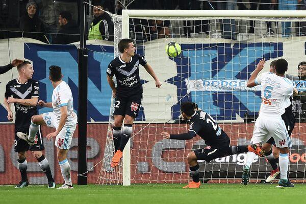 Игровой момент матча чемпионата Франции Марсель - Бордо