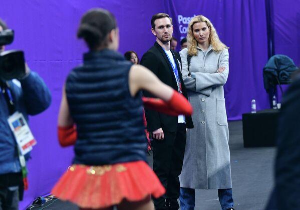 Этери Тутберидзе перед выступлением Алины Загитовой