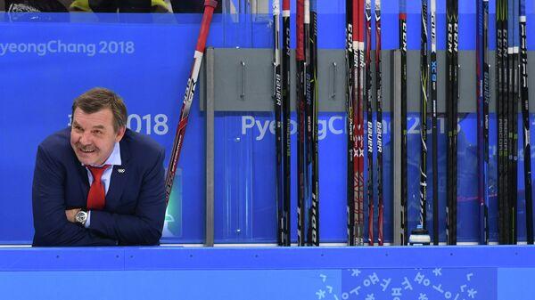 Главный тренер российских хоккеистов Олег Знарок