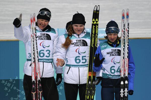 Анна Миленина, Екатерина Румянцева, Людмила Ляшенко (слева направо)