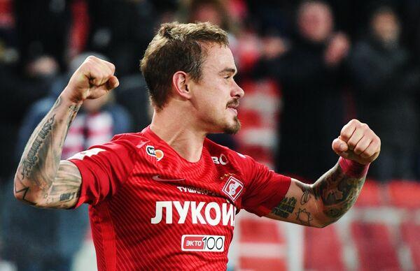 Игрок ФК Спартак Андрей Ещенко