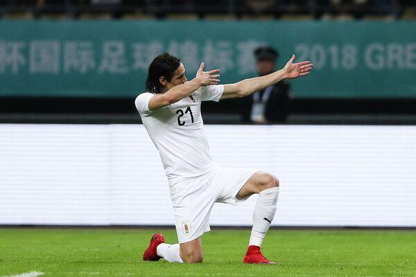 Нападающий сборной Уругвая и французского Пари Сен-Жермен Эдинсон Кавани