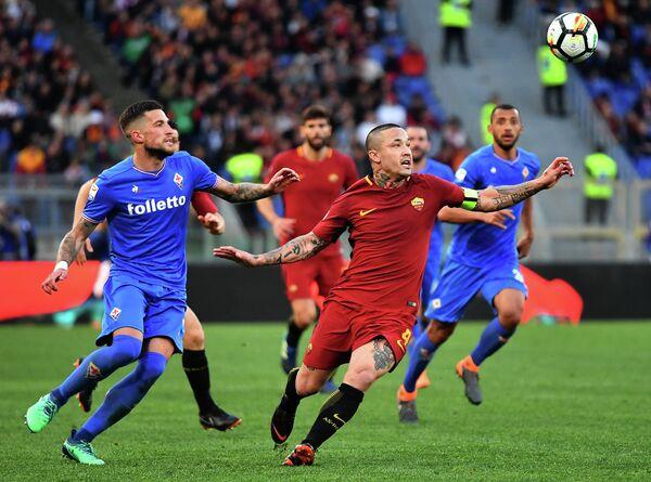 Игровой момент матча Рома - Фиорентина