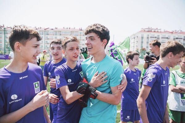 Футболисты красноярского Тотема после победы