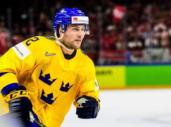 Нападающий сборной Швеции Юхан Ларссон