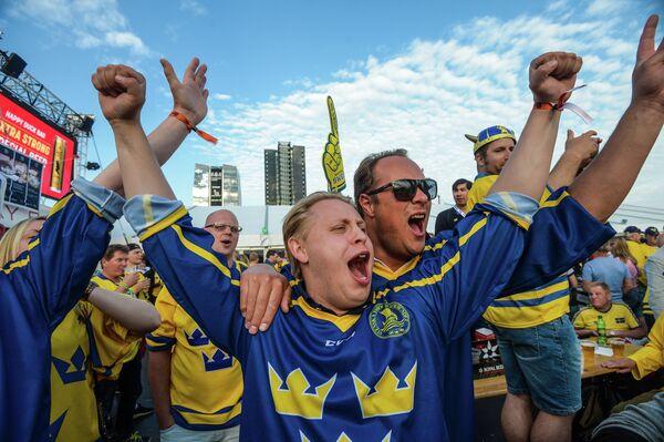 Болельщики сборной Швеции
