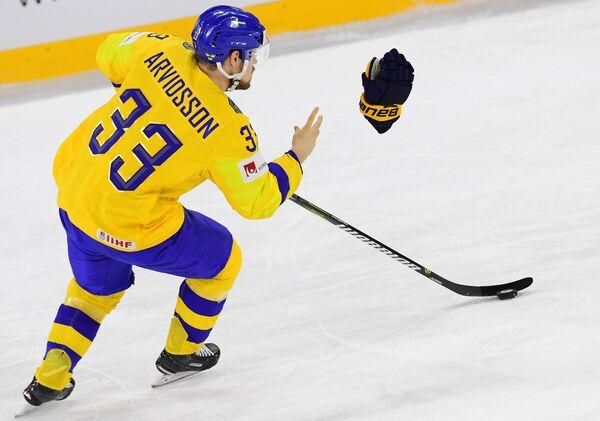 Нападающий сборной Швеции Виктор Арвидссон
