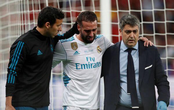 Защитник мадридского Реала и сборной Испании по футболу Даниэль Карвахаль