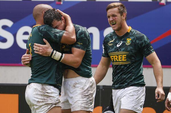 Регбисты сборной ЮАР