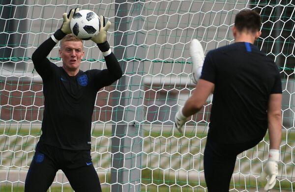 Вратарь сборной Англии Джордан Пикфорд