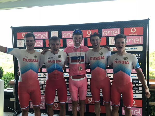 Российский велогонщик Александр Власов, выигравший молодежную Джиро д'Италия