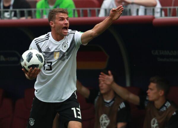 Атакующий полузащитник немецкой сборной Томас Мюллер