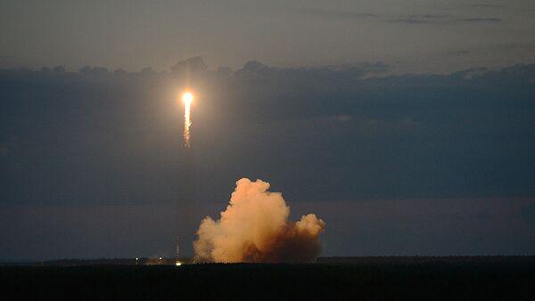 Пуск ракеты с российским навигационным космическим аппаратом