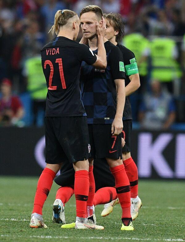 Футболисты сборной Хорватии Домагой Вида и Иван Ракитич